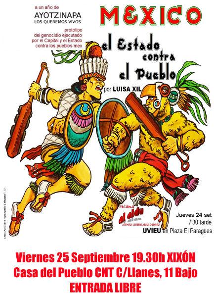 Cartel charla El estado contra el pueblo mex