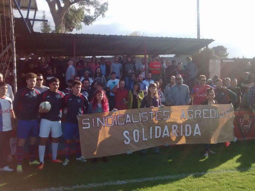 Acto de solidaridad del UC. Ceares